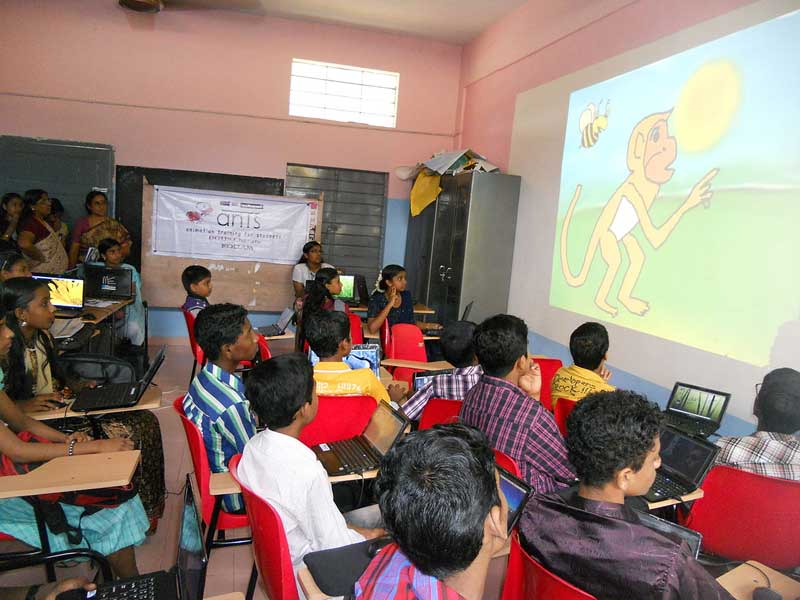 Animation training sessionof IT@school Project,Kerala,